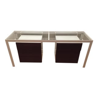 Armani Steel Hanging-Drawer Console
