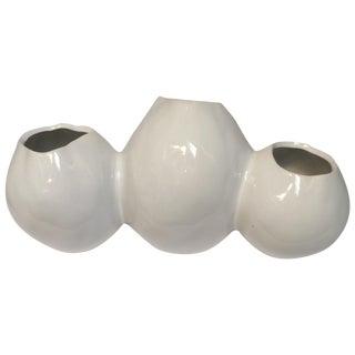 Three-Part Hand-Crafted Ceramic Vase