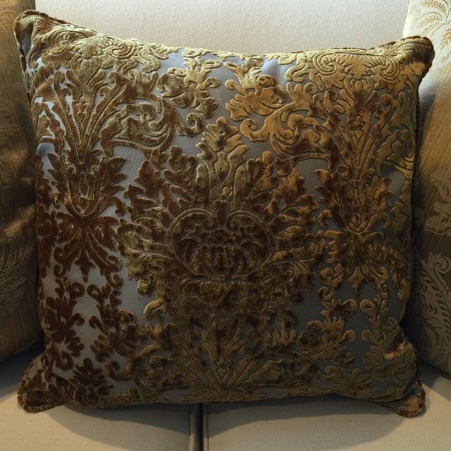 Barrow Velvet Damask Pillow - Image 4 of 7
