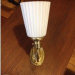 Image of Brass Wall Sconces With Uno Fittings - 2