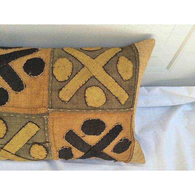 African Kuba Cloth Pillows- A Pair - Image 6 of 7