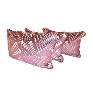 Custom Purple Velvet Cut Out Pillows