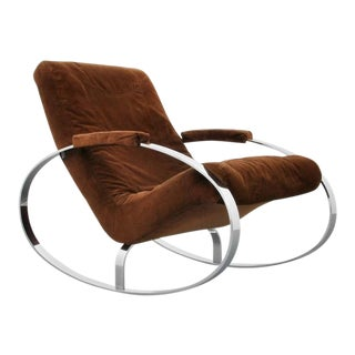 Gorgeous Chrome Rocking Chair (Rocker), Guido Faleschini, 1960s, Italy
