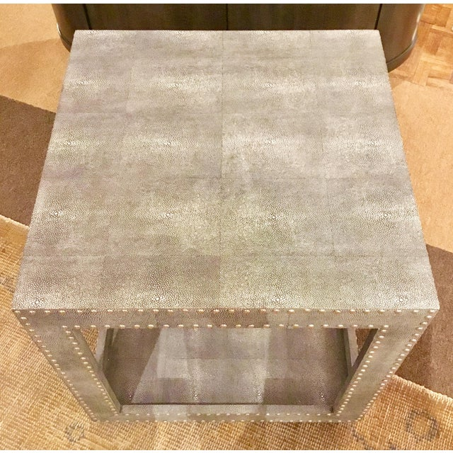 Regina Andrews Feaux Python Studded Accent Cube Table - Image 4 of 9