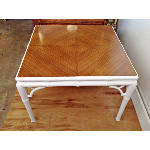 Hollywood Regency Bamboo Coffee Table - Image 2 of 7