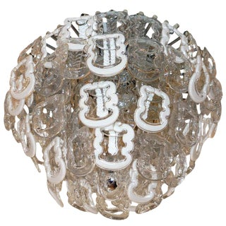 Large Rich Murano Glass Chandelier