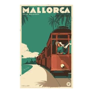 Danish Modern Travel Mallorca Poster, Soller Vintage Train