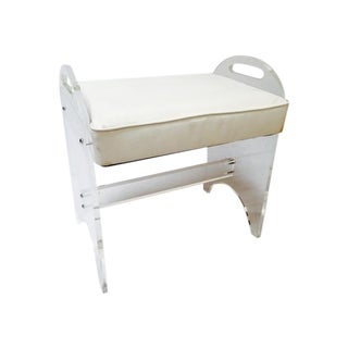 Lucite Table or Ottoman Bench Vanity Stool