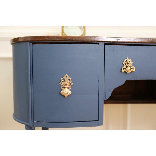 Circa 1930 Louis XV Style Petite Kidney Shaped Desk - Image 9 of 11