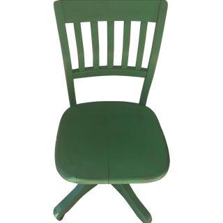 Vintage Green Children's Desk Chair