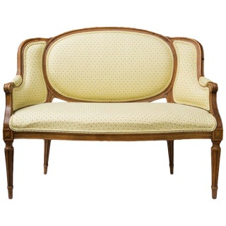 Diminutive Louis XVI Style Upholstered Settee