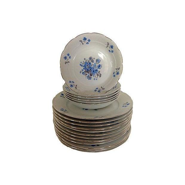 Vintage Blue & White Floral Bohemia China - 18 - Image 7 of 7