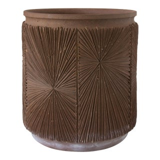 Single Robert Maxwell and David Cressey Earthgender Medium Cylindrical Planter - 2 Available