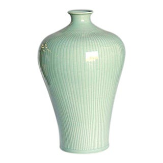 Asian Traditional Celadon Chinese Vase Decorative