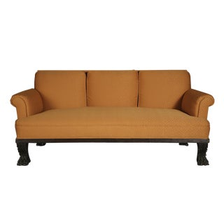 American Empire Orange Upholstered Sofa
