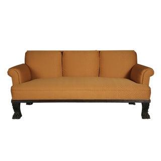American Empire Orange Upholstered Sofa