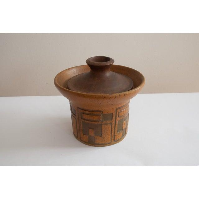 Rare Raymor Teak & Ceramic Container - Image 2 of 5