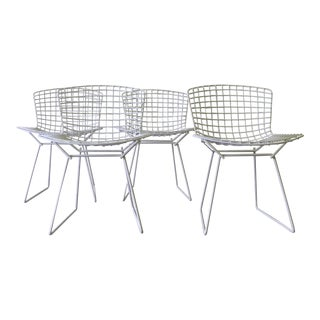 Knoll Mid Century Modern Bertoia Chairs, Set of Four