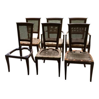 Baker Cane Back Dining Chairs – Set of 6