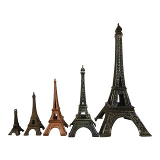 Eiffel Tower Souvenir Buildings - Set of 5