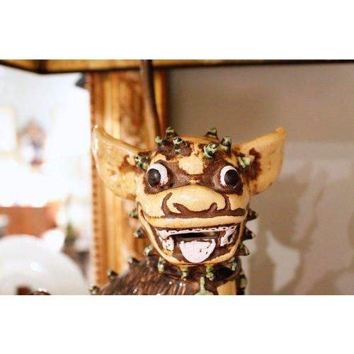 Chinese Yellow Glazed Ceramic Foo Dog Lamp - Image 6 of 9