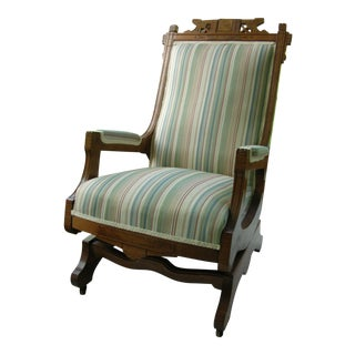 Victorian Eastlake Walnut Rocking Chair