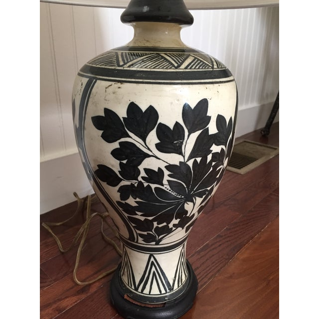 Vintage Chinese Meiping Lamp - Image 4 of 6