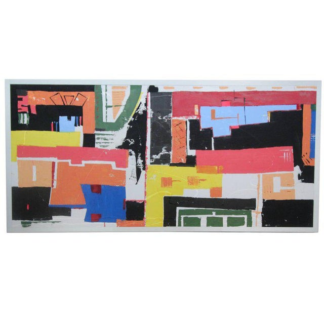 Monumental 8ft Modern Abstract Acrylic Painting on Canvas - Image 2 of 5