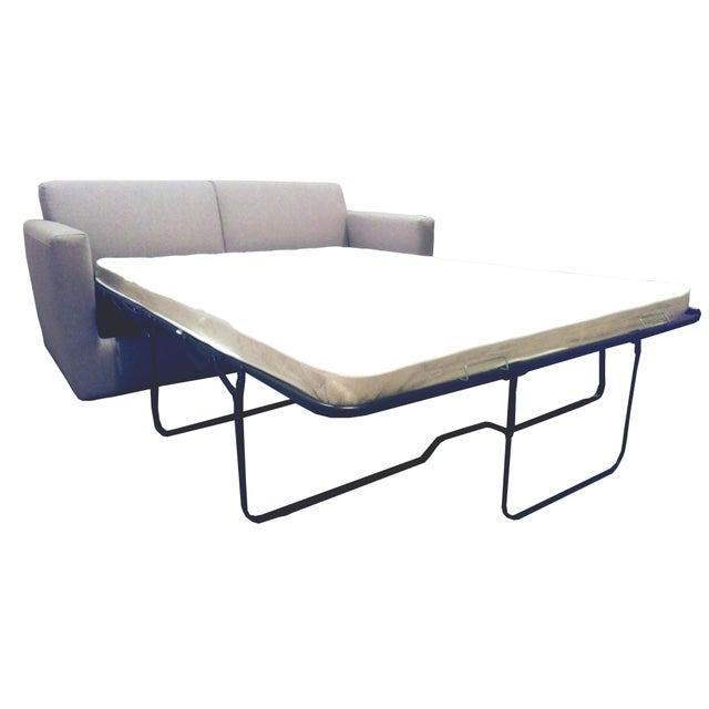 Modern Charcoal Sleeper Sofa - Image 2 of 4