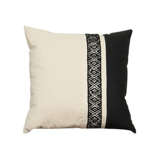 Black and White Rio Woven Pillow