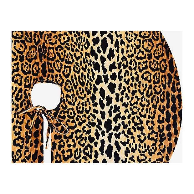 """Custom Tailored X-Large 55"""" Leopard Spot Velvety Christmas Tree Skirt - Image 9 of 9"""