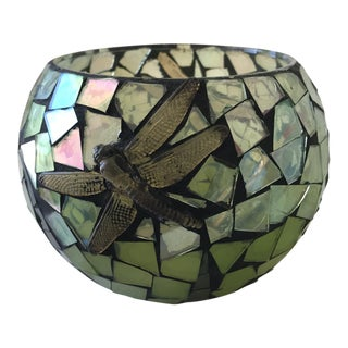 Opalescent Dragonfly Mosaic Vessel