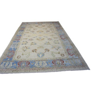 "Turkish Oushak Area Rug - 11'1"" X 17'1"""