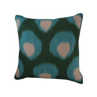 Peter Dunham Outdoor Textiles Green & Turquoise Pillow