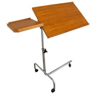 1970s Danish Modern Teak Computer Table
