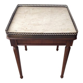 Gallery Side Table with Marble Top