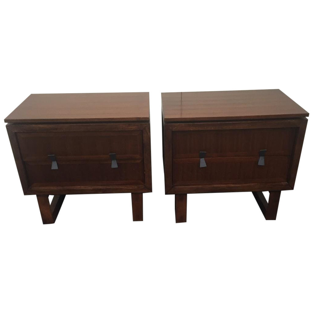 Zocalo Elevation Nightstands   A Pair