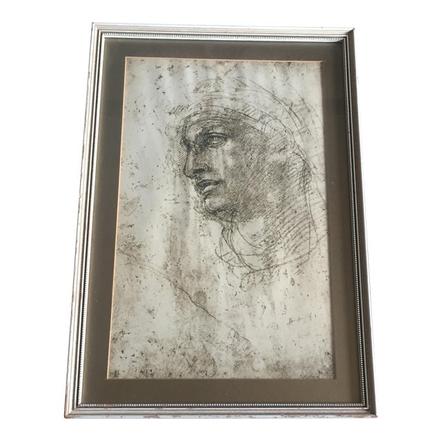 """Michelangelo """"Head of a Youth"""" British Museum Fine Art Print - Image 1 of 7"""
