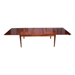 Large Skovby Danish Modern Rosewood Extension Dining Table