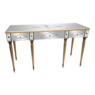 Drexel Heritage Mirrored Console Desk