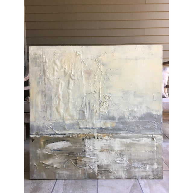 Obscured Horizon Mixed Media Painting - Image 2 of 6
