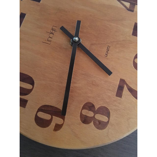 Vintage Mid-Century Modern Linden Wall Clock - Image 4 of 6
