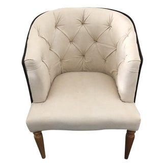 Vintage Canvas Empire Chair