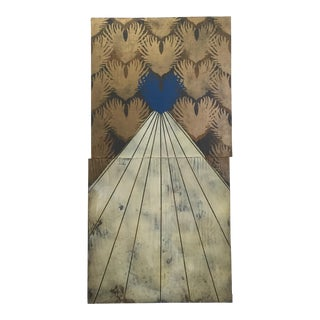 Blue Heart & Rays of Light Original Painting