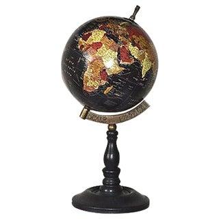 Black & Brass Standing Globe