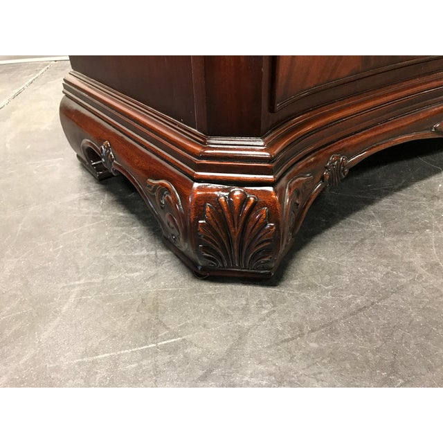 Councill Flame Mahogany Figural Carved Serpentine 9 Drawer Dresser - Image 7 of 11