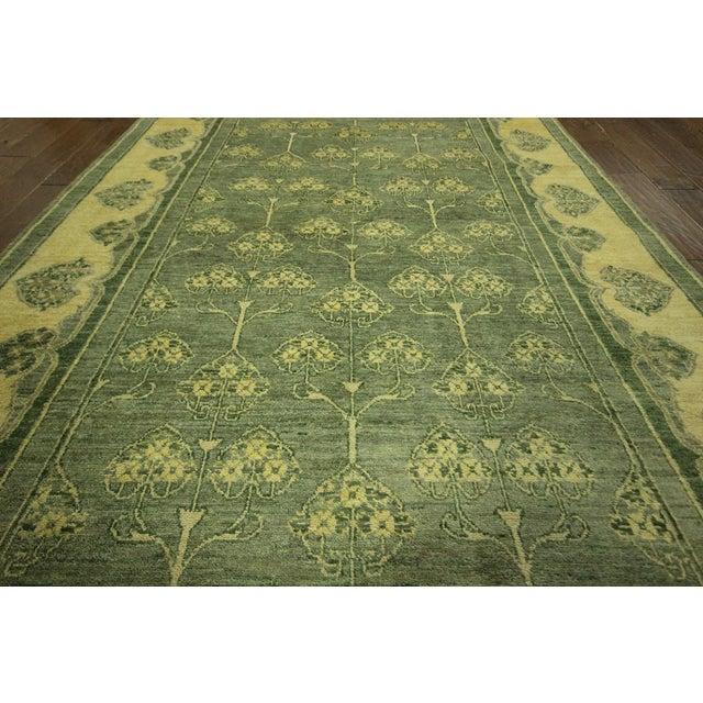 "Green Chobi Gabbeh Oriental Rug - 6'1"" x 9'3"" - Image 6 of 10"