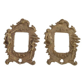Bronze Frames with Angel Motifs - Pair