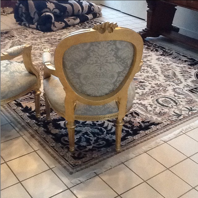 Gold Leaf Neoclassical Chairs - A Pair - Image 5 of 5