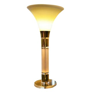 Brass and Lucite Clearelite Table Lamp by Bauer